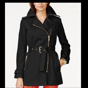 NWOT Michael Kors raincoat black size medium
